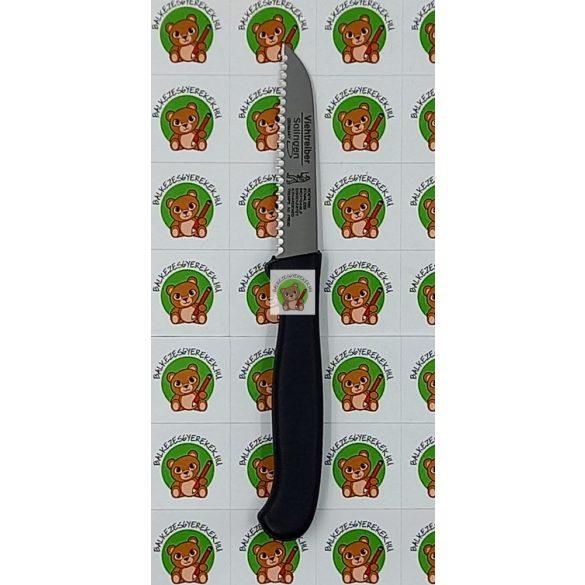 Balkezes fogazott kés 18,5cm-es, 10,5 cm-es penge: Solingen