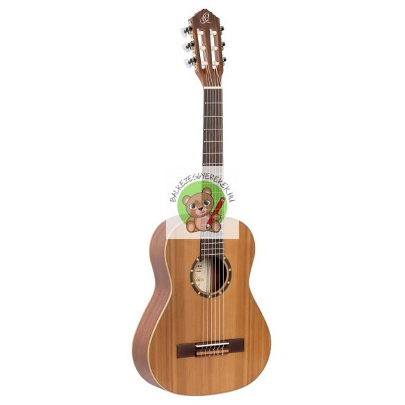 Balkezes akusztikus gitár 1/2-es, cédrus-mahagóni, Ortega + Deluxe gitártáska