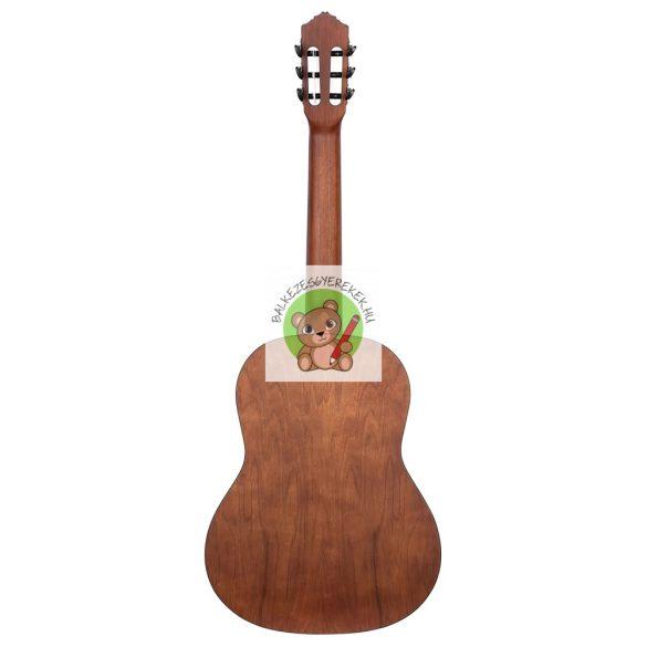 Balkezes akusztikus gitár 4/4-es, Diák sorozat, natúr+mahagóni nyak, Ortega