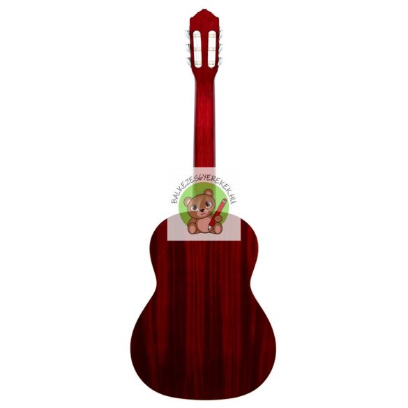 Balkezes akusztikus gitár 4/4-es, mahagóni-borvörös, Ortega +Deluxe gitártáska