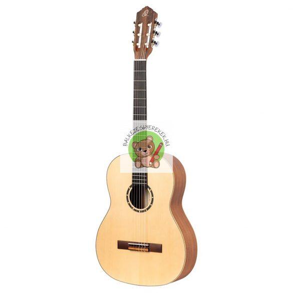 Balkezes akusztikus gitár 4/4-es, vékony nyakú, natúr, Ortega + Deluxe gitártáska