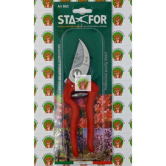 Metszőolló balkezeseknek: 20 cm-es, rozsdamentes vágóél, Stafor