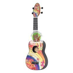 Balkezes ukulele, szoprán méretű, Design sorozat: Agathis, Ortega