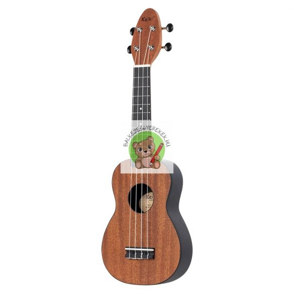Balkezes ukulele, szoprán méretű, Design sorozat: Mahagóni, Ortega