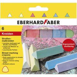 Aszfaltkréta 6 db-os, háromszög alakú, Eberhard Faber