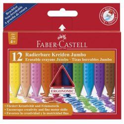 Zsírkréta 12db-os, radírozható, vastag-háromszög alakú, 3 éves kortól, Faber-Castell