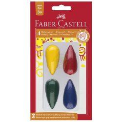 Zsírkréta szett 4 db-s, csepp alakú, Faber-Castell