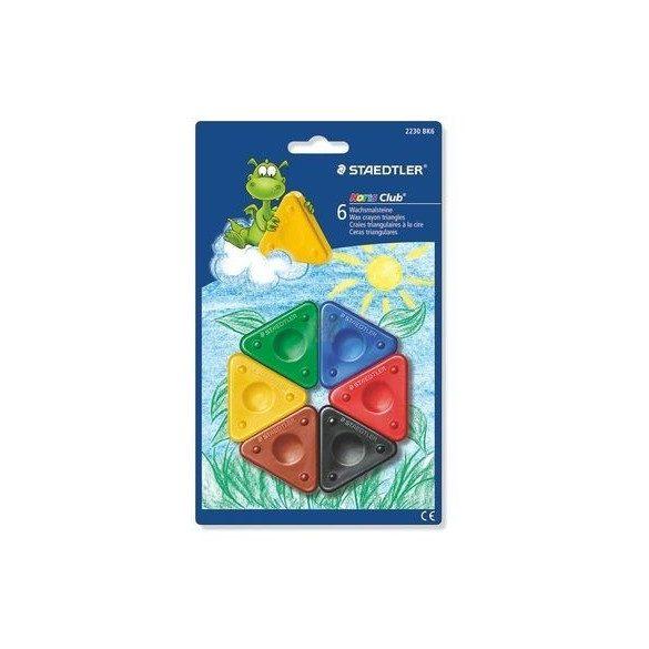 Háromszög alakú írásfejlesztő zsírkréta készlet 6 darabos Staedtler KIFUTÓ termék!