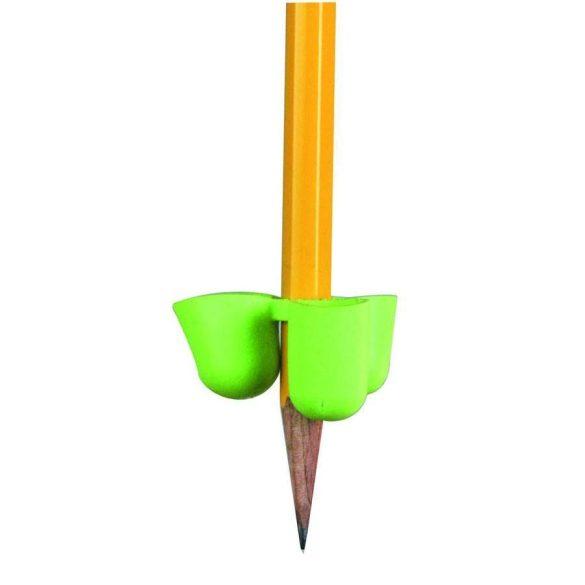 Három ujjas ceruzafogó jobb-és balkezeseknek, 6-10 éves korig. Kék és piros színben kapható.
