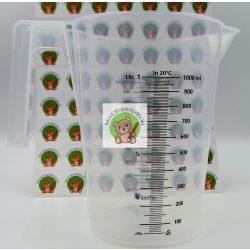 Konyhai mérőedény: bal-és jobbkezesek számára 1 literes