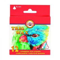 Zsírkréta készlet 12db-os, vékony, háromszögletű fogás, festhető, KOH-I-NOOR