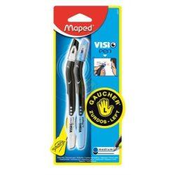 Balkezes tollkészlet, kék-fekete tollakkal, Visio Pen-Maped