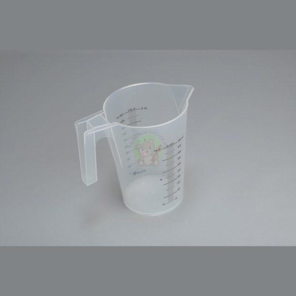 Konyhai mérőedény: bal-és jobbkezesek számára, 1/2 literes
