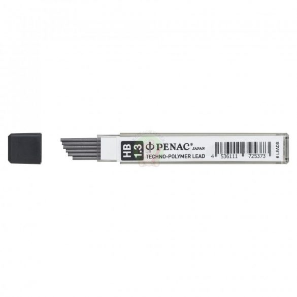 Grafit irónbél csomag, 6db-os, 1.3 mm vastag, HB-s, PENAC