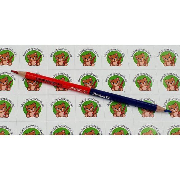 Postairon vékony, háromszögletű, piros-kék Pelikán