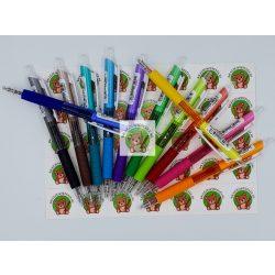 Zselés toll, 0.5 mm-es hegy, ergonomikus kialakítás, lila tolltest, lila tintával, Penac
