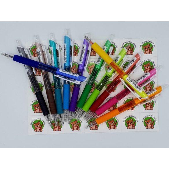 Zselés toll, 0.5 mm-es hegy, ergonomikus kialakítás, lila tolltest és lila tinta Penac