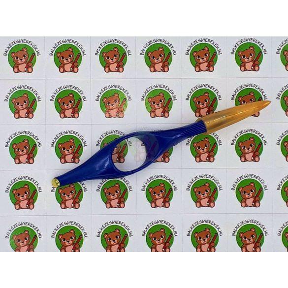 Gyűrűs toll, ergonomikus utántölthető golyóstoll, kék tintával, gyerek és női kézmérethez alakítva, Ring-Pen