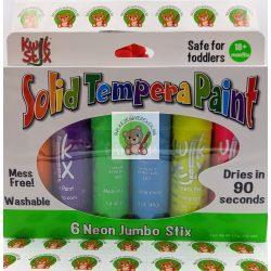 Stiftfesték készlet neon színekben: 6 darabos