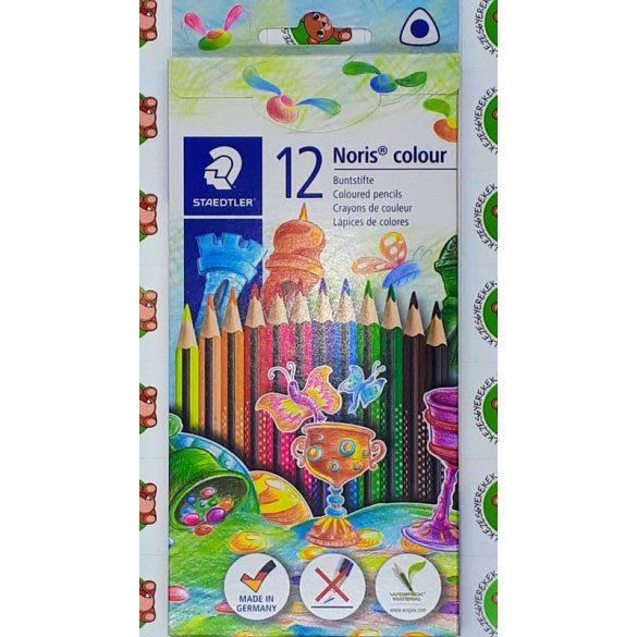 Színes ceruza készlet, vékony, háromszögletű, 12 darabos, Staedtler