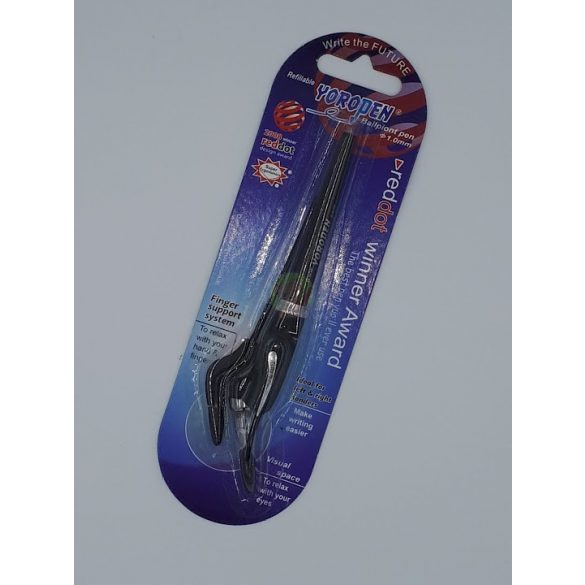 Yoropen EX superior toll fekete tintával, fekete színű tolltesttel+1 tollbetéttel, jobb-és balkezesek számára!