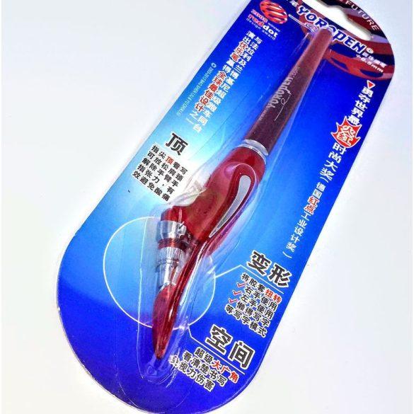 Yoropen EX superior toll kék tintával, piros színű tolltesttel, jobb-és balkezesek számára AJÁNDÉK HASZNÁLATI ÚTMUTATÓVAL!