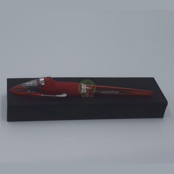 Yoropen EX superior díszdobozos! toll kék tintával, piros színű tolltesttel, jobb-és balkezesek számára
