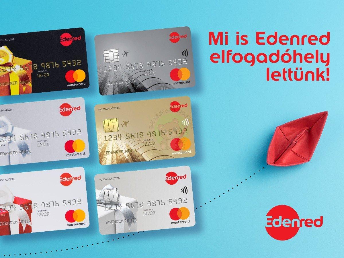 Edenred Ajándékkártya, Beiskolázási kártya és utalvány elfogadóhely lettünk